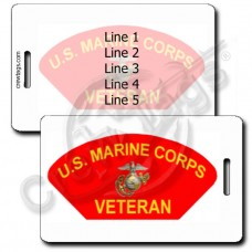 UNITED STATES MARINE CORP VETERAN LUGGAGE TAGS