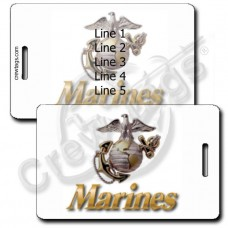 UNITED STATES MARINE CORP EMBLEM LUGGAGE TAGS