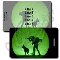 UNITED STATES MARINE CORP K-9 LUGGAGE TAGS