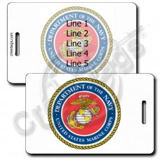 SEAL OF THE UNITED STATES MARINE CORP LUGGAGE TAGS