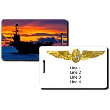 NAVAL FLIGHT SURGEON WINGS WITH SUNSET CARRIER LUGGAGE TAGS