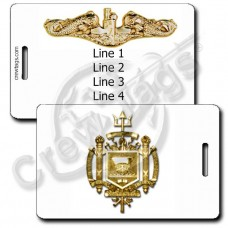 USN NAVAL ACADEMY/SUBSURFACE WARFARE OFFICER LUGGAGE TAGS