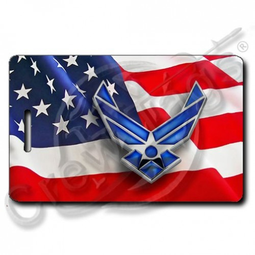 WAVING AMERICAN FLAG CUSTOM UNITED STATES AIR FORCE