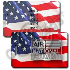 ANG WAVING AMERICAN FLAG LUGGAGE TAGS