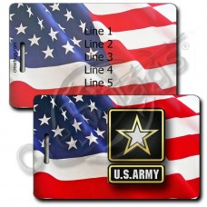 WAVING AMERICAN FLAG LUGGAGE TAGS - US ARMY