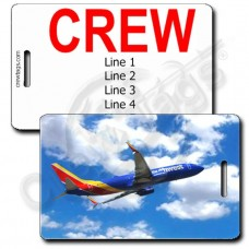 PERSONALIZED SOUTHWEST 737 CREW TAGS (1501)
