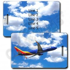 PERSONALIZED SOUTHWEST 737 LUGGAGE TAGS (1501)