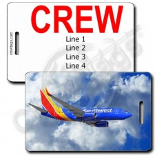PERSONALIZED SOUTHWEST 737 CREW TAGS (1502)