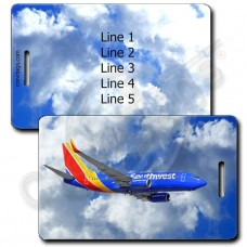 PERSONALIZED SOUTHWEST 737 LUGGAGE TAGS (1502)
