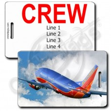 PERSONALIZED SOUTHWEST 737-7H4 CREW TAGS