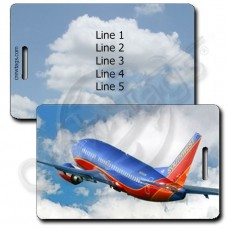 PERSONALIZED SOUTHWEST 737-7H4 LUGGAGE TAGS
