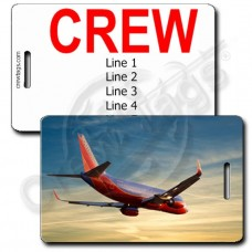 PERSONALIZED SOUTHWEST 737-7H4 SUNSET CREW TAGS
