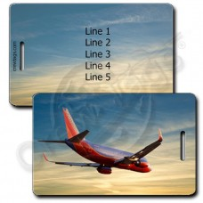 PERSONALIZED SOUTHWEST 737-7H4 SUNSET LUGGAGE TAGS