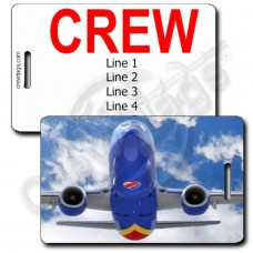PERSONALIZED SOUTHWEST 737 HEAD ON CREW TAGS (1503)