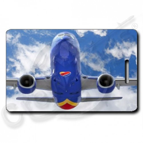 SOUTHWEST 737 HEAD ON LUGGAGE TAGS (1503)