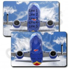 PERSONALIZED SOUTHWEST 737 HEAD ON LUGGAGE TAGS (1503)