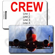 PERSONALIZED SOUTHWEST 737 HEAD ON CREW TAGS