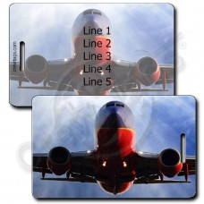 PERSONALIZED SOUTHWEST 737 HEAD ON LUGGAGE TAGS