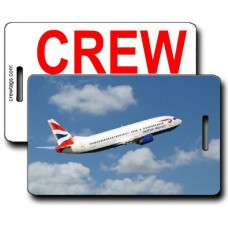 British Airways 737-436 Crew Tags