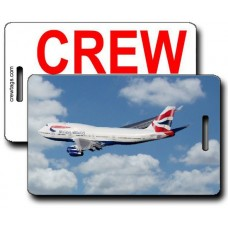 BRITISH AIRWAYS 747-436 CREW TAGS