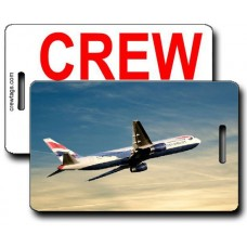 British Airways 767-336 Crew Tags