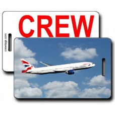 BRITISH AIRWAYS 777-236 CREW TAGS