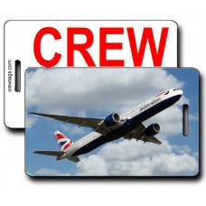 British Airways 777-336 Crew Tags