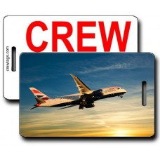 British Airways 787 Crew Tags