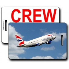 British Airways ERJ-170 Crew Tags