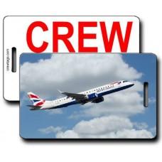 British Airways ERJ-190 Crew Tags