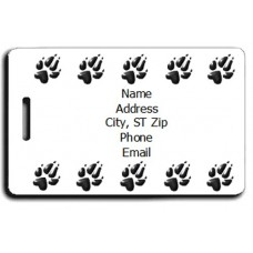 PAW PRINTS LUGGAGE TAG - SAME BOTH SIDES
