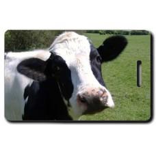 Cow (Black & White) Luggage Tag