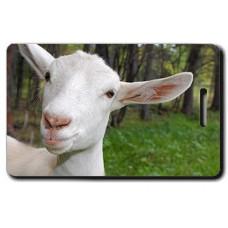 White Goat Luggage Tag