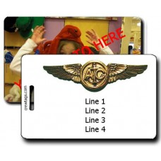 CUSTOM PHOTO: USN AIRCREW WINGS LUGGAGE TAGS