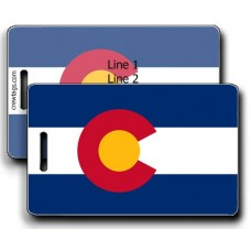 Colorado State Flag Luggage Tags