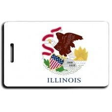 Illinois State Flag Luggage Tags