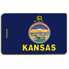Kansas State Flag Luggage Tags