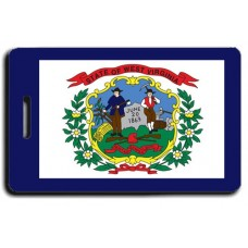 West Virginia State Flag Luggage Tags