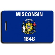 Wisconsin State Flag Luggage Tags