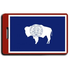 Wyoming State Flag Luggage Tags