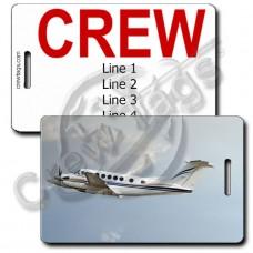 BEECH SUPER KING AIR B200 CREW TAGS