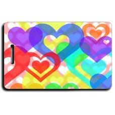 Heart Luggage Tags - Rainbow