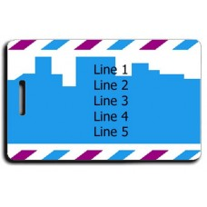 Security Blue Luggage Tags