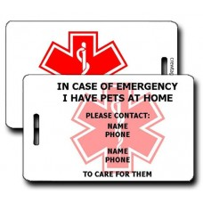 Emergency Pet Contact Information Luggage Tag