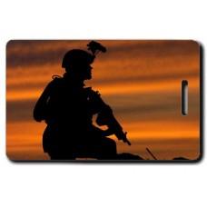 Army Sunset Patrol Luggage Tags