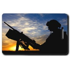 Army Sunset Security Luggage Tags