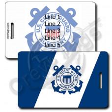 USCG Auxiliary Flag Luggage Tag