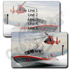 USCG Rescue Boat and Helicopter Luggage Tag
