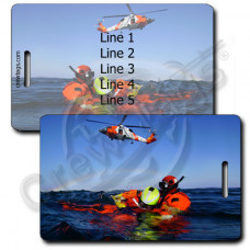 USCG Water Rescue Luggage Tag
