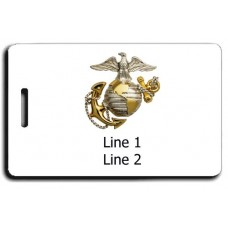 UNITED STATES MARINE CORP LOGO WITH EAGLE GLOBE AND ANCHOR LUGGAGE TAGS